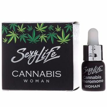 Sexy Life Cannabis Woman, 5 мл Концентрат феромонов с ароматом конопли для женщин страпоны аромат – кедровое дерево