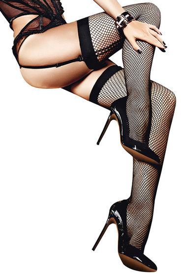 Baci Чулки в мелкую сетку, черные Со швом сзади чулки baci lingerie careless french maid высокие в крупную сетку черные 42 46