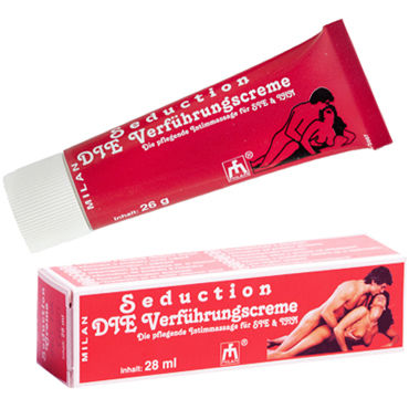 Milan Seduction, 28 мл Крем, усиливающий сексуальное желание страпоны и фаллопротезы для мужчин длина 16 18 см