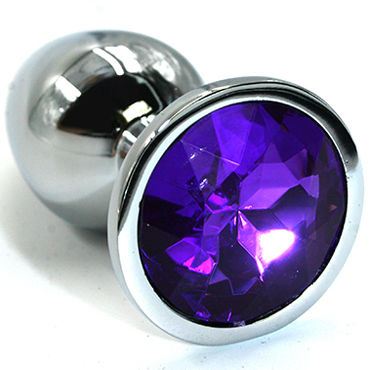 Kanikule Малая анальная пробка, серебристая С темно-фиолетовым кристаллом kanikule большая анальная пробка серебристая с темно синим кристаллом