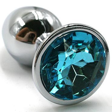 Kanikule Малая анальная пробка, серебристая С голубым кристаллом diogol jaz nh t2 серебристая анальная пробка с вибрацией