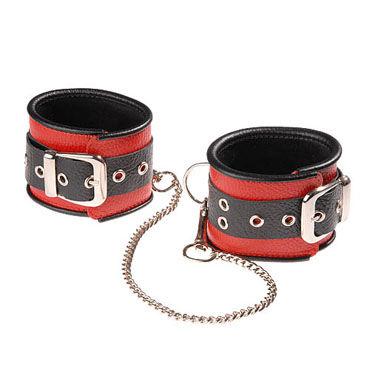 Sitabella оковы, черно-красный С одной пряжкой sitabella крюгер черно желтый очки с зеркальными линзами