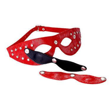 Sitabella маска красный С отстегивающимися шорами маска me seduce с ушками черная os