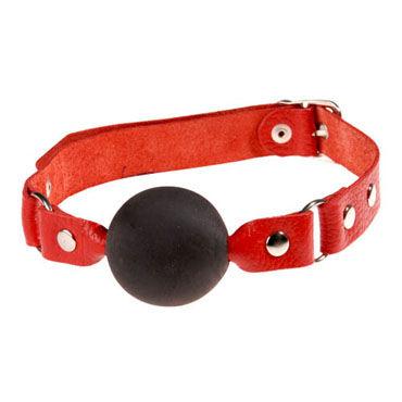 Sitabella кляп красный Кожаный, универсального размера ouch wooden bridle с черным ремешком кляп в форме палочки
