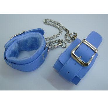 Sitabella Оковы голубой С искусственным мехом sitabella крюгер черно желтый очки с зеркальными линзами