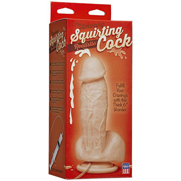 Doc Johnson Squirting Realistic Cock Фаллоимитатор с имитацией семяизвержения ejaculating dildo squirting dildos cumming cock ejaculating dildo realistic squirting penis cock dildo sex products for woman