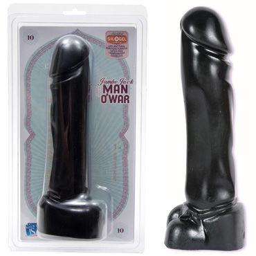 Doc Johnson Man Owar, черный Фаллоимитатор увеличенного размера doc johnson optimale p massager черный стимулятор простаты