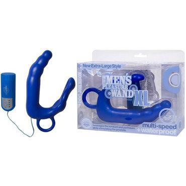 Doc Johnson Mens Pleasure XL голубой Стимулятор простаты большого размера анальная пробка slim anal plug medium голубая
