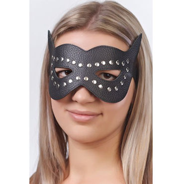 Sitabella маска, черная Кожаная, с велюровой подкладкой sitabella плеть кожаная с рукояткой фаллоимитатором