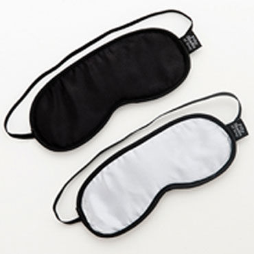 Fifty Shades of Grey Soft Blindfold Twin Pack Две маски на глаза анальная пробка jelly rancher t plug wave black гладкая черная