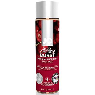 System JO Cherry Burst, 120 мл Лубрикант на водной основе с вишневым вкусом wild lust анальная пробка 6 см черно зеленая с лисьим хвостом