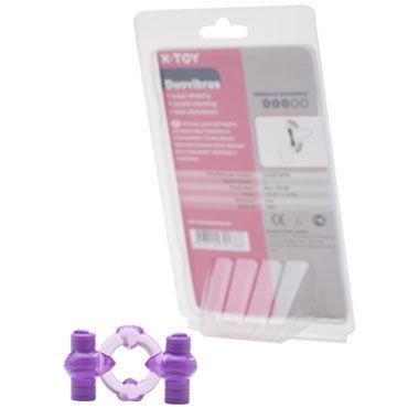 X-Toy Duovibrus III, фиолетовое Эрекционное кольцо с двумя виброэлементами x toy erektus iii серый