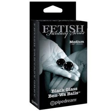 Pipedream Medium Black Glass Ben-Wa Balls Стеклянные вагинальные шарики pleasure box gold для игр в стиле бдсм набор для сексуальных экспериментов