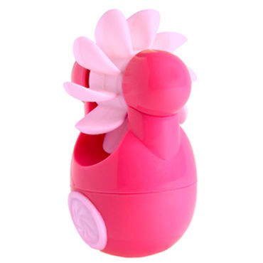 Sqweel Go Pink Карманный клиторальный стимулятор luxurious tail анальная пробка розовая с красным кристаллом