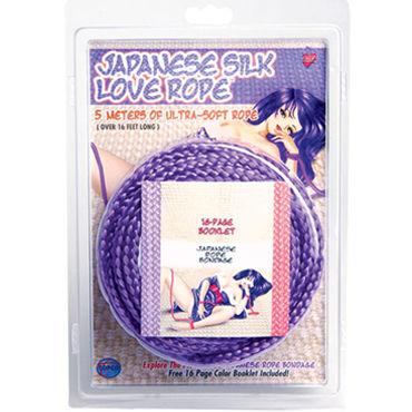 Topco Japanese Silk Love Rope, фиолетовый Веревка для фиксации, 5 м lux fetish playtime шест для стриптиза