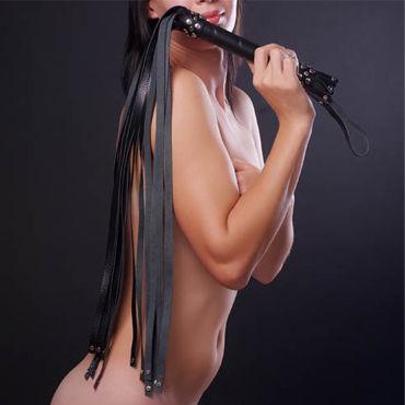 Sitabella плеть, белая С длинными хвостами sitabella плеть черно белая с жесткой рукояткой 65 см
