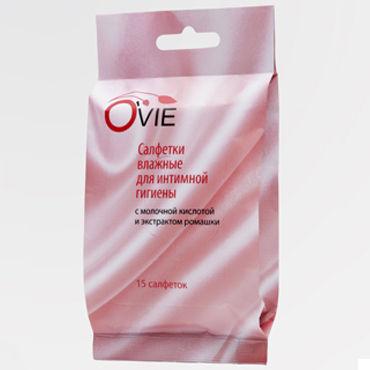 Ovie влажные салфетки, ромашка Пропитаны молочной кислотой мягкий лубрикант aqua sensitive 120 ml