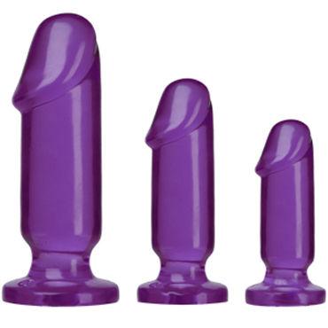 "Doc Johnson Anal Starter Kit, фиолетовые Набор анальных фаллоимитаторов набор анальных цепочек posh silicone ""o"" beads фиолетовый"