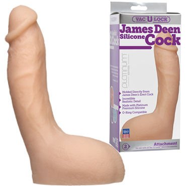 Doc Johnson Vac-U-Lock James Deen Silicone Cock Реалистичная насадка к трусикам obsessive black dress