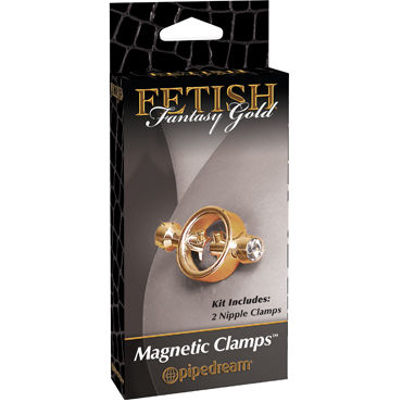 Pipedream Gold Magnetic Clamps Стильные зажимы для сосков pipedream gold cockring