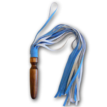 Sitabella Комета, голубая Плеть с кожаными хвостами sitabella плеть красная с длинными хвостами