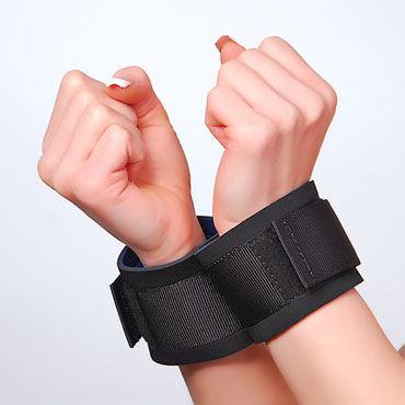 Sitabella наручники Тканевые, для фиксации игрушки для фиксации цвет золотой шар