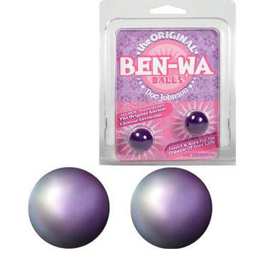 Doc Johnson Ben-Wa, фиолетовый Вагинальные шарики для тренировки мышц shots toys ben wa balls medium weight вагинальные шарики из стекла
