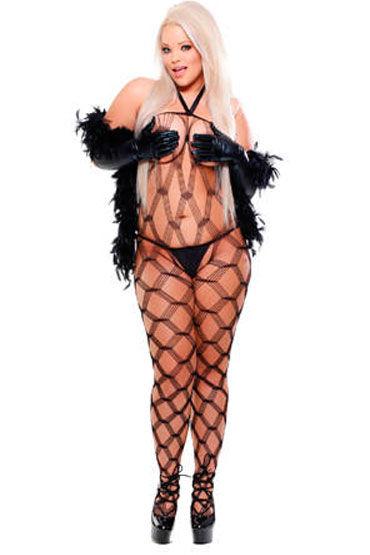 Fetish Fantasy Lingerie Dream Weaver Кэтсьюит в комплекте с боа, стрингами и перчатками и electric lingerie fantasy dream