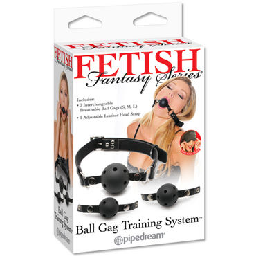 Pipedream Ball Gag Training System Набор из трех кляпов doc johnson mood naughty 2 8 5 см больше