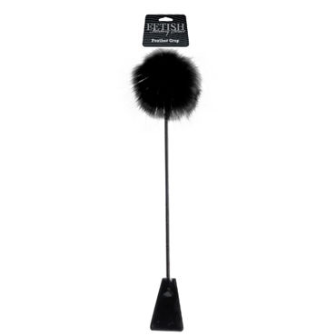 Pipedream Feather Crop Черный стек с пушком на конце baile pretty love robert вибратор со стимулятором клитора