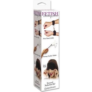 Pipedream Набор BDSM Наручники, стек с пером и маска набор lover s fantasy наручники маска плетка
