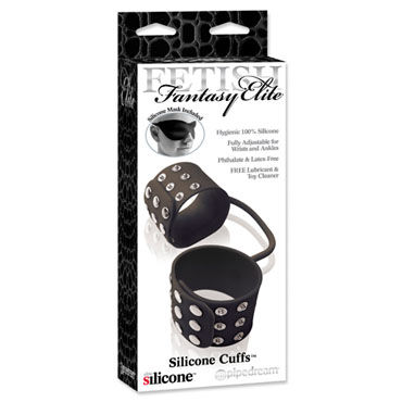 Pipedream Silicone Cuffs черный Оковы для ног на ремешке california exotic booty call booty exciter черная анальная пробка