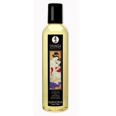 Shunga Euphoria, 250 мл Массажное масло, цветочный аромат toyfa кольцо прозрачное гелевое эрекционное