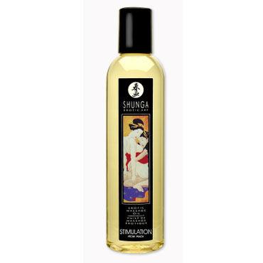 Shunga Stimulation, 250 мл Массажное масло, персик magoon love fantasy 100 мл ароматизированное массажное масло