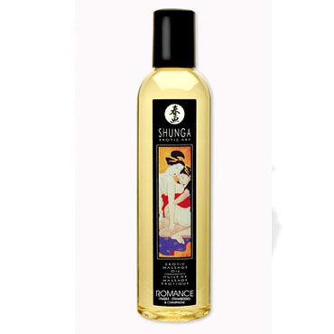 Shunga Romance, 250 мл Массажное масло, клубника и шампанское масло интимное массажное shunga полночный щербет 100 мл