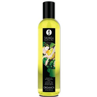 Shunga Organica, 250 мл Массажное масло, зеленый чай масло интимное массажное shunga сливочный латте 100 мл