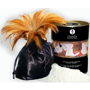 Shunga Body Powder, 228 гр Сладкая пудра для тела, шампанское и клубника shunga body painting vanilla