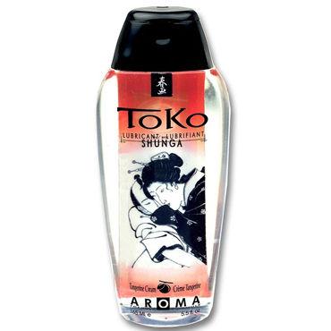 Shunga Toko Aroma, 165 мл Лубрикант с нежным вкусом, мандарин mif 3 17 см вибратор из киберкожи на присоске с выносным пультом управления