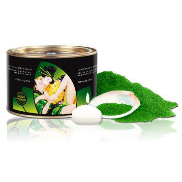 Shunga Oriental Crystals, 600 гр Соль для ванны, цветок лотоса лучшие смазки для секса shunga