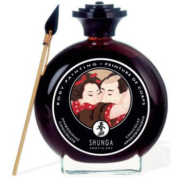 Shunga Body Painting, 100 мл Съедобная краска для тела, шоколад и афродизиак lick it erdbeere 100 мл