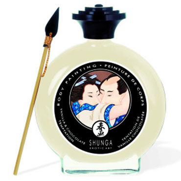 Shunga Body Painting, 100 мл Съедобная краска для тела, ваниль и шоколад массажный крем для тела shunga груша и экзотический зеленый чай серии необыкновенные поцелуи 200мл
