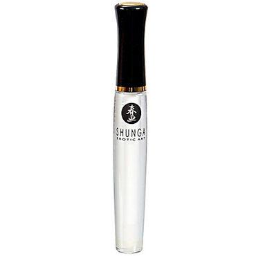 Shunga Divine Oral Pleasure, 10 мл Возбуждающий блеск для губ с ароматом клубника и шампанское гель hot glide liquid pleasure wb 30 мл