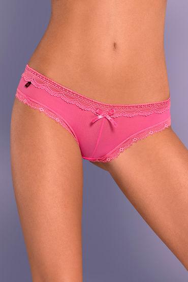 Obsessive Corella hot pink, розовый Трусики с бантиком анально вагинальные вибраторы цвет розовый