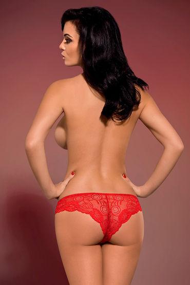Obsessive Secred, красный Кружевные трусики эрекционные электрические ремни charming chuck