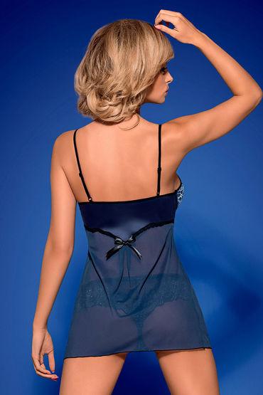 Obsessive Auroria, синий Бэби долл со шнуровкой и трусики allure lingerie комплект топ и юбка с яркой шнуровкой