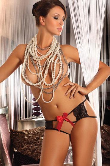 Livia Corsetti Amara, черные Трусики украшенные яркими бантами трусики livia corsetti carlina white белый s