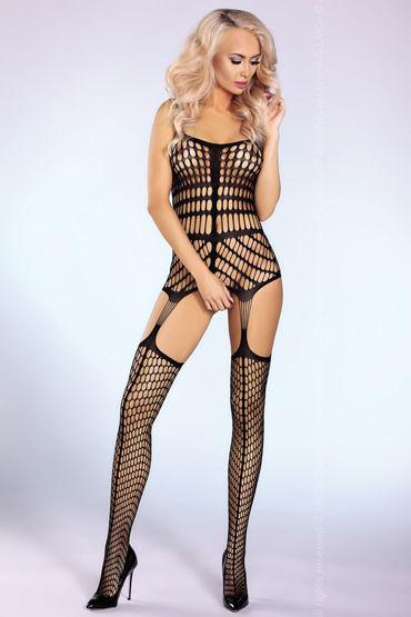 Livia Corsetti Morena Боди-комбинезон в крупную сетку чулки soft line в крупную сетку красные xxl