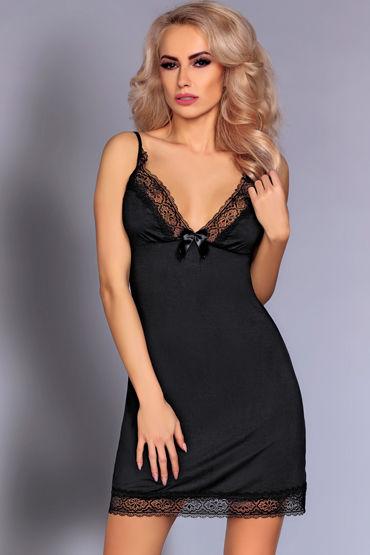 Livia Corsetti Lorey, черная Атласная сорочка и трусики анально вагинальные вибраторы toy joy
