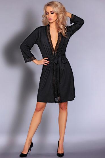 Livia Corsetti Frances, черный Пеньюар украшенный кружевом livia corsetti andrea комплект эротического белья