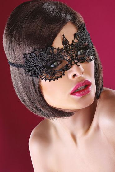 LivCo Corsetti Mask Model 12, черная Маска из ажурного кружева podium поножи из высококачественной кожи